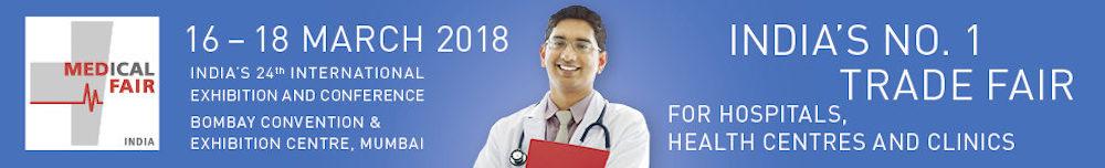 MEDICAL FAIR INDIA 2018. BOMBAY, 16 a 18 abril 2018