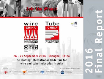 Informe post feria Wire y Tube CHINA 2016