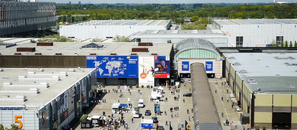Imagen aérea de Interpack 2017. Imagen © Messe Düsseldorf / CTillmann