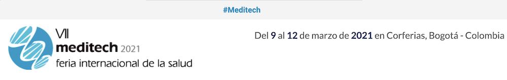 Feria medica MEDITECH Bogotá nuevas fechas por COVI-19
