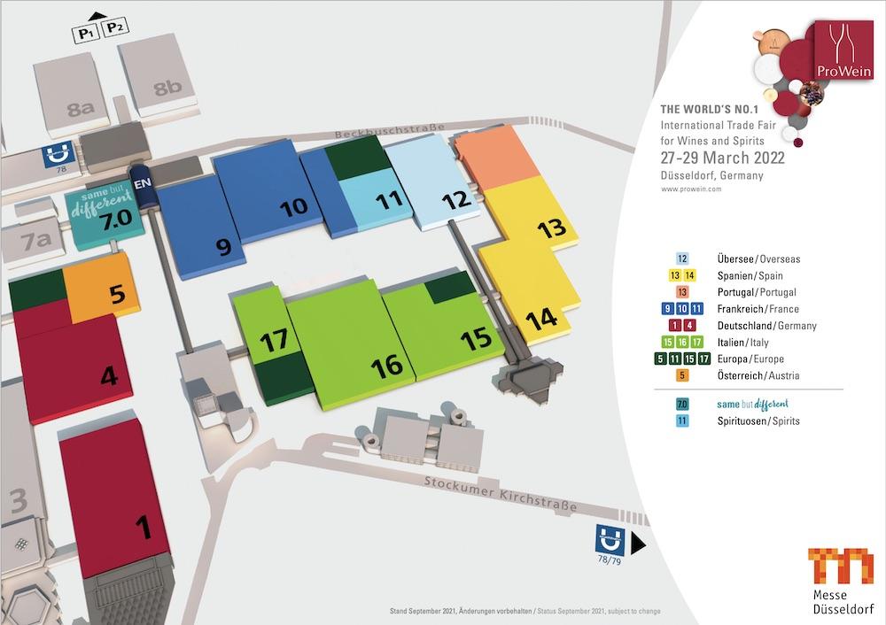 plano de prowein düsseldorf 2022